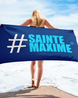 SERVIETTE BLEUE MARINE #SAINTEMAXIME