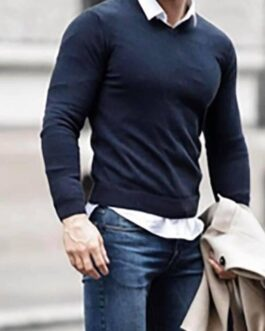Ensemble jeans slim +pull+ chemise
