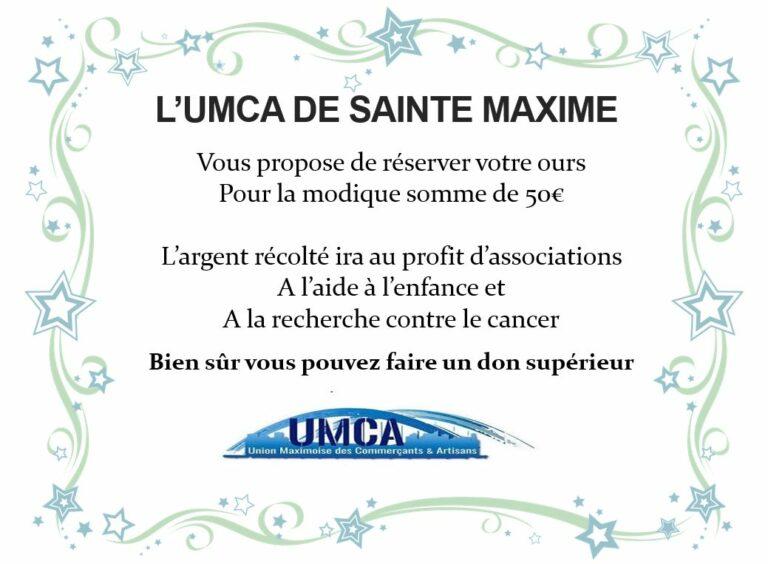 Read more about the article UMCA Sainte Maxime vous propose de Réserver Vos Nounours